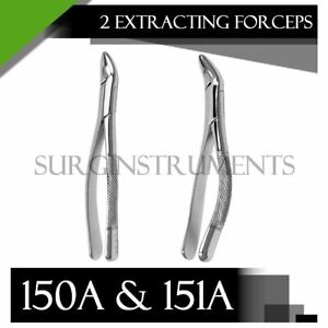 Extracting Forceps Set Of 2 150a 151a Surgical Dental Instruments