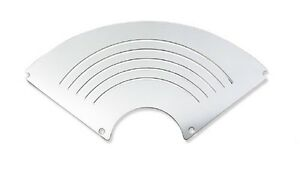 55 56 Chevy Speaker Grille Cover Polished Aluminum