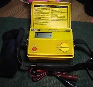 Robin Kmp 3010 Insulation continuity Tester W Manual Leads Vg Working Cond