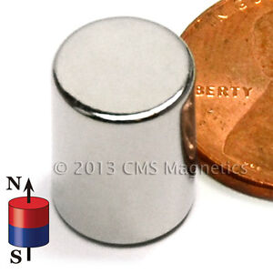 Strong Neodymium Magnet Cylinder Dia 3 8 X 1 2 Ndfeb Rare Earth Magnet 50 count