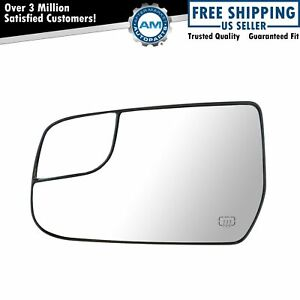 Mirror Glass Power Heat W Mounting Bracket Driver Side Left For Chevy Gmc