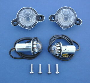 55 56 57 Chevy Nomad Wagon Sedan Delivery License Light Housing Assembly New