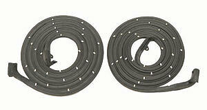 55 56 57 Chevy 2 d Ht Convertible Door Seals With Molded Ends