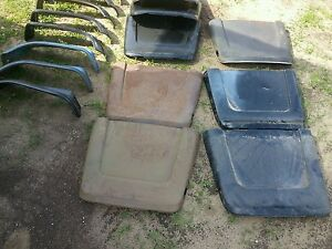 1966 1967 Chevelle Pontiac Gto Malibu Factory Bucket Seat Back Metal Trim 1pr