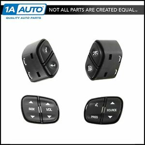 Steering Wheel Mtd Switch Kit Set Of 4 For Silverado Sierra Trailblazer Tahoe