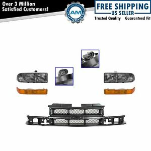 Grille Headlight Parking Light Lamp Kit Set Of 5 For Chevy S10 Pickup Blazer