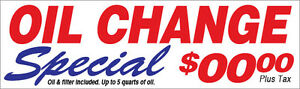 Oil Change Special Vinyl Banner Sign New Custom add Your Price 3x10 Ft