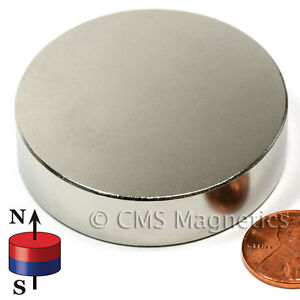 Cms N50 Neodymium Magnet Dia 2x1 2 Ndfeb Rare Earth Powerful Magnet 4 Pc
