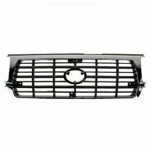 Grille Grill Assembly Black Chrome Front For 95 97 Toyota Land Cruiser