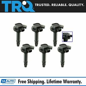 Trq Direct Ignition Cop Coil Set Of 6 For Ford Fusion Flex Edge Taurus Mks Mkt