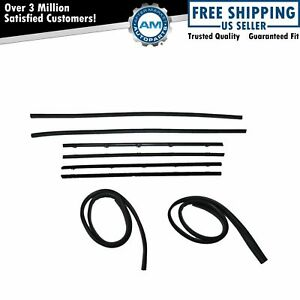 8pc Window Sweep Kit Black Bead For 67 72 Gmc Chevy Truck