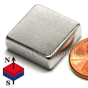 Cms Magnetics Strong N42 Neodymium Square Magnet 3 4 x 3 4 x 1 4 4 pc