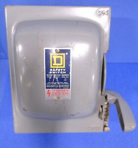 Square D Safety Disconnect Switch 30 Amp 240 Vac 125 250v