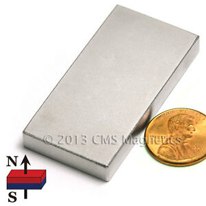 Cms Magnetics Powerful N45 Neodymium Rectangular Magnet 2 x 1 x 1 4 4 pc