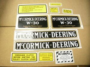 Ihc Mc Cormick Deering W30 Tractor Decal Set New Free Shipping