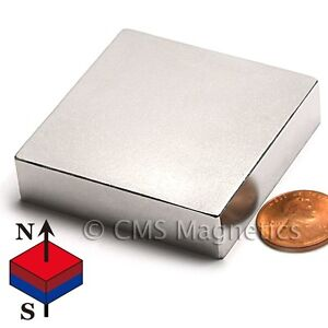 Strongest N52 Neodymium Magnets 2x2x1 2 Super Strong Rare Earth Magnet 4 Pc