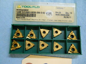 10 New Tool Flo Carbide Inserts Tf29543n4c 16nr 2 0 Gr 50c 23