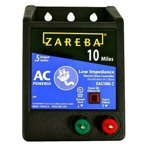 New Zareba A10m Weed Chopper 10 Mile Fence Controller Charger Garden 6154850