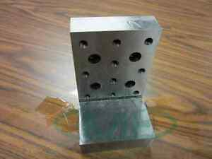 Angle Plate 6x4x4x1 Precision Ground W Tapped Holes 0 0002 pgap 644 new