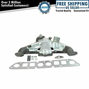 Cast Iron Exhaust Manifold W Gasket Kit For Cherokee Dakota Truck Wrangler 2 5l