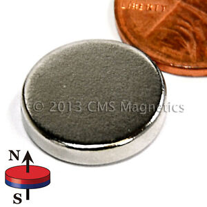 Cms Magnetics Powerful N45 Neodymium Disc Magnet 5 8 x 1 8 50 pc