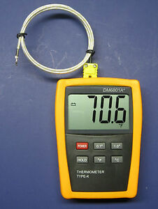 Digital K type Thermometer With High Temperature Wire Probe Furnace Kiln Pk1000s