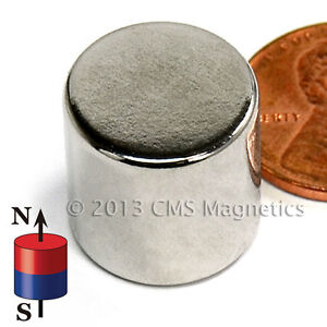 Neodymium Magnets N45 Dia 5 8 X 5 8 Ndfeb Rare Earth Cylinder Magnets 100 Pc