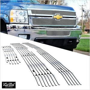 Fits Chevy Silverado 2500hd 3500hd Billet Grille Combo Insert 2011 2014