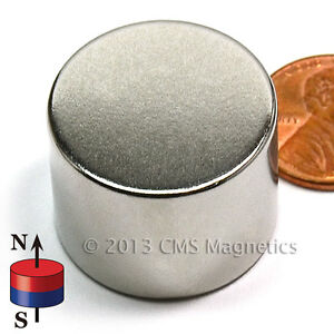 Cms Magnetics 69 Lb Holding Power N42 Neodymium Disc Magnet 1 x 3 4 50 pc
