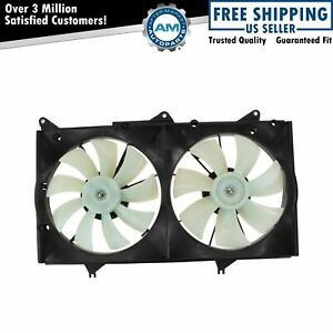 Radiator Dual Cooling Fan 6 Cylinder For 02 03 Lexus Es300 Toyota Camry