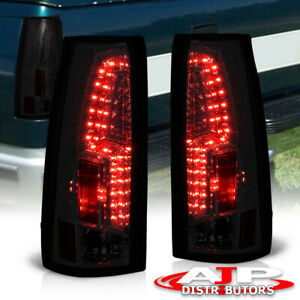 88 98 Chevy Gmc C k C10 Full Size Truck Suv All Smoke Lens Led Tail Lights Pair