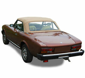 Fiat 124 Spider Cs1 1600 1800 Convertible Soft Top 1966 1979 Tan Pinpoint Vinyl