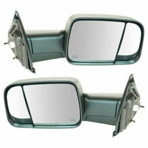 Trail Ridge Towing Mirror Power Heated Pair Set For Dodge Ram Truck 1500 2500