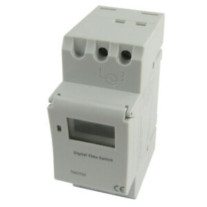 Din Rail Mounting Weekly Digital Programmable Electronic Timer Thc15a Dc ac 12v