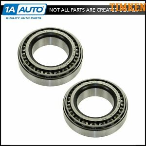 Timken Bearing Race Front Inner Outer Pair Set For Chevy Dodge Ford Gmc Jeep