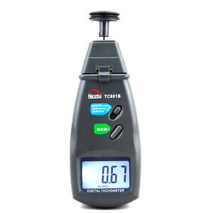 Digital Laser Photo Tachometer Non Contact Tach F Engine Motor Industrial Rpm