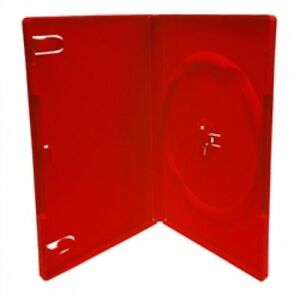 200 Standard Solid Red Color Single Dvd Cases