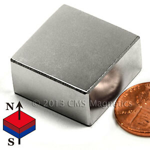 Grade N52 Neodymium Magnet 1 x1 x1 2 Rare Earth Magnets 4 Pc
