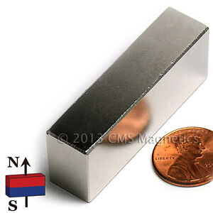 Neodymium Magnet N45 2x1 2x3 4 Rare Earth Ndfeb Bar Magnet 20 Pc