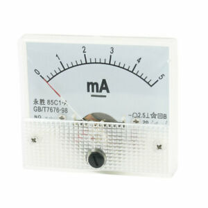 85c1 a Class 2 5 Accuracy Dc 0 5ma Analog Ampere Tester Ammeter Panel Meter