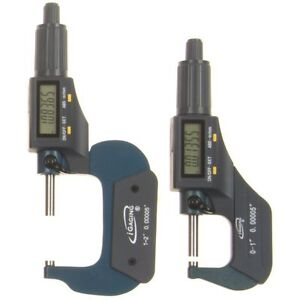 2 Pc 0 1 1 2 0 00005 Micrometer Digital Electronic Oustside X large Lcd