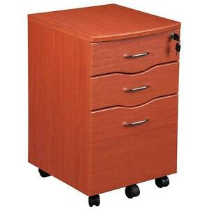 Rolling File Cabinet Dark Honey