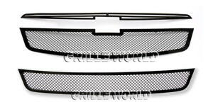 For 11 2013 Chevy Cruze Lt Ltz Rs Package Turbo Black Stainless Grille Combo