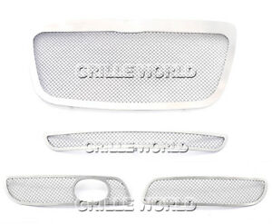 For 2011 2012 Chrysler 300 300c Stainless Steel Mesh Premium Grille Combo