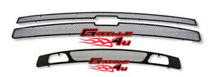 For 2007 2013 Chevy Silverado 1500 Black Mesh Grille Grill Insert Combo