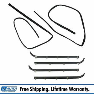 6pc Window Sweep run Channel Weatherstrip Set For F150 F250 F350 Pickup Truck