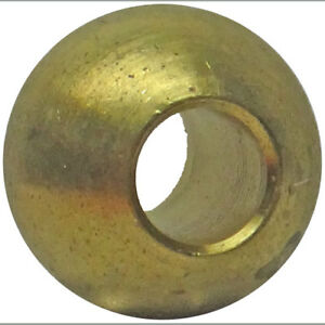 Ten 5 8 Dia Brass Balls Drilled 1 4 Slip Fit Through Hole