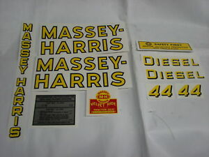 Massey Harris 44 Diesel Tractor Decal Set New Free Shipping