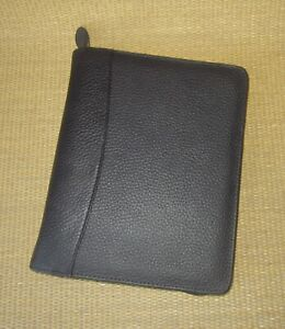 Classic 1 125 Rings new Black Pebbled Leather Franklin Covey Planner binder