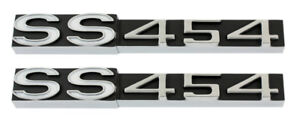 New Trim Parts Ss 454 Rocker Panel Emblem Pair For 1970 71 Monte Carlo 1650